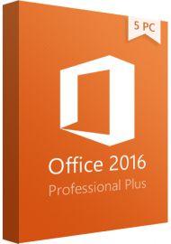 Microsoft Office 2016 Professional Plus - 5 PCs